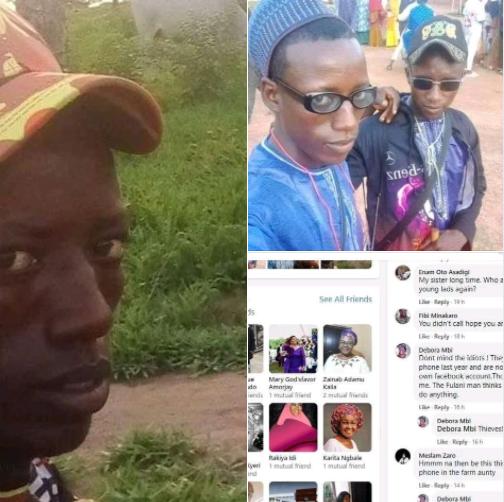 Suspected herdsmen post their photos on woman