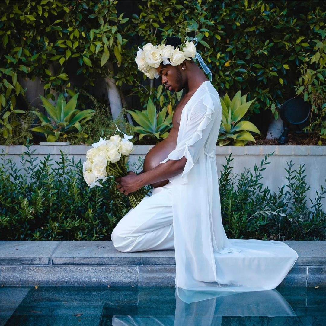 """Lil Nas X releases hilarious """"maternity"""" photos to reveal he"""