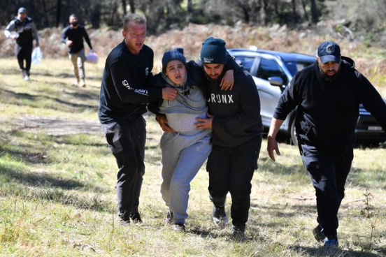 Moment police find boy, 3, missing for 3 days drinking muddy water to survive