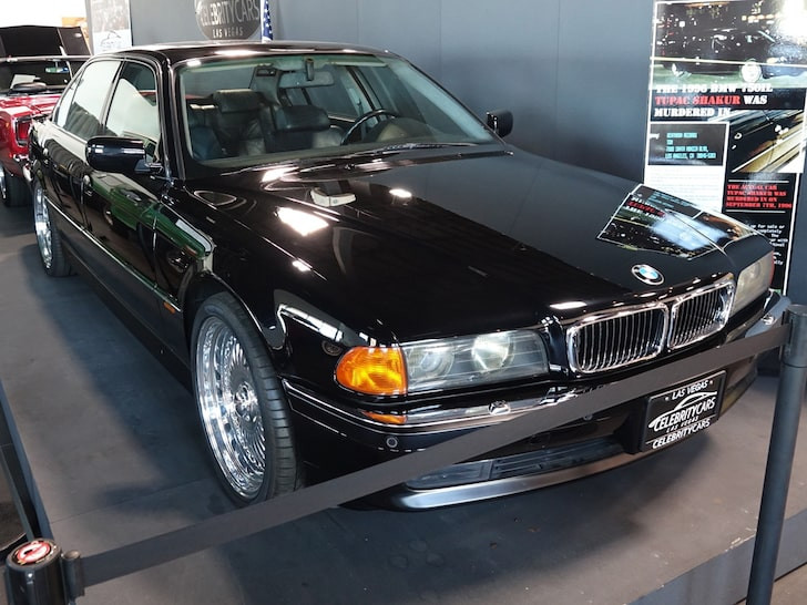 BMW Tupac was riding in when he was shot put up for sale for nearly $2m