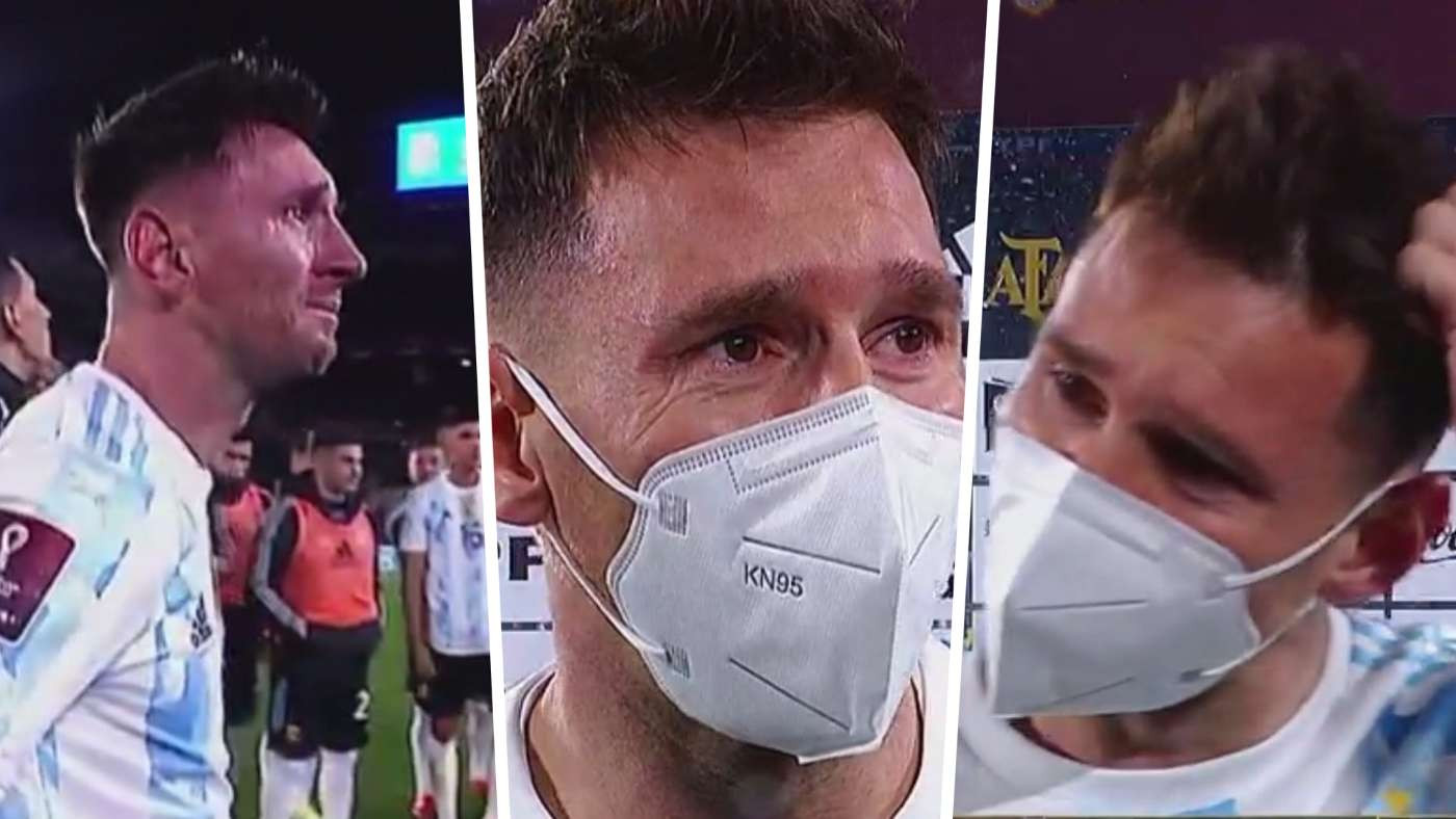 Lionel Messi cries tears of joy after?surpassing Pele to become highest scoring South American male footballer (photo/Video)
