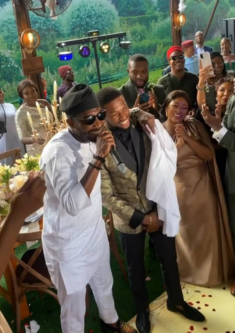 Photos and videos from the wedding of actors Stan Nze and Blessing Obasi