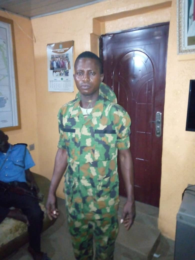 Fake soldiers arrested while soliciting for a suspect at Ota divisional police