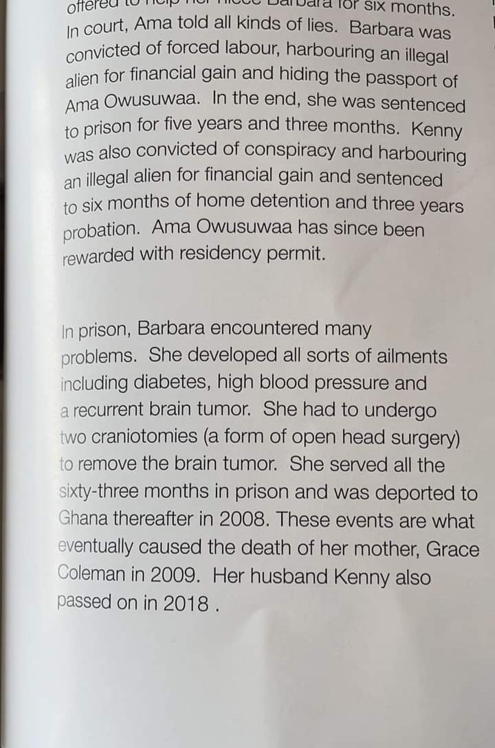 Heartbreaking biography narrates how Ghana woman was imprisoned in US and deported after relative she brought to the US allegedly lied to immigration about her