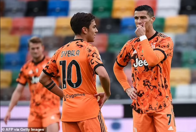 Giorgio Chiellini aims dig at Cristiano Ronaldo as he claims Paulo Dybala was forced to