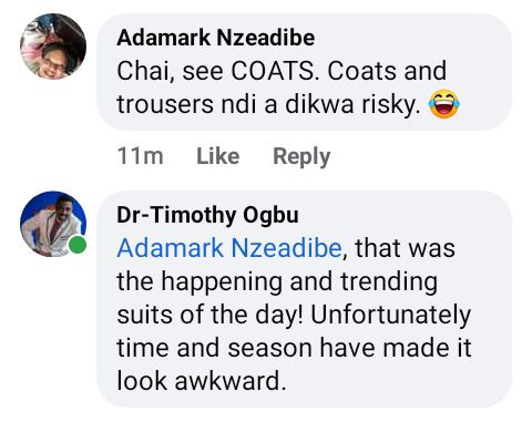 """Nigerian pastor shares throw back photo of him and his friends wearing """"happening and trending suits"""""""