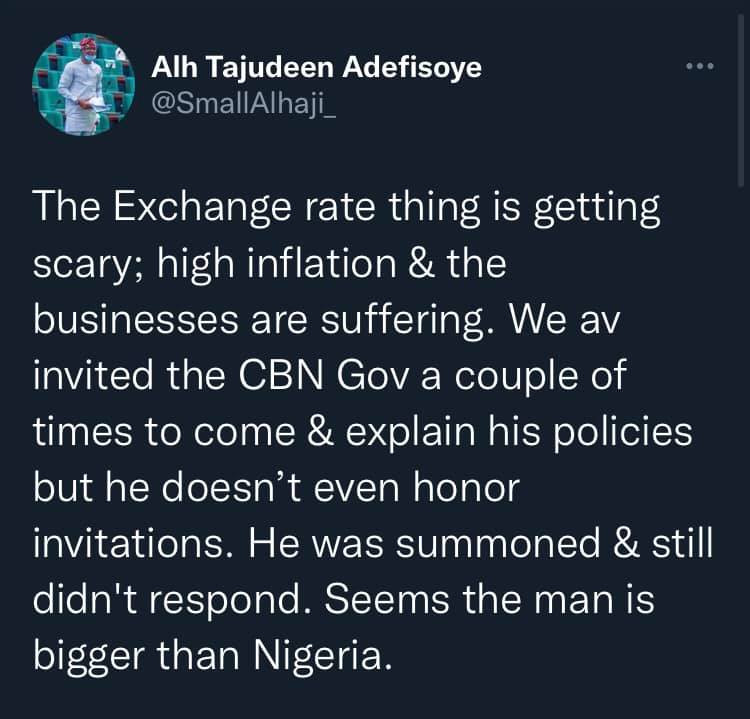 The exchange rate is now scary, we