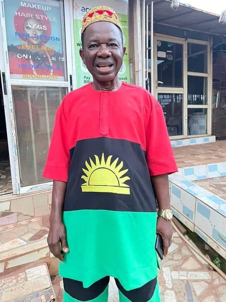 Actor Chinwetalu Agu dons Biafran flag outfit