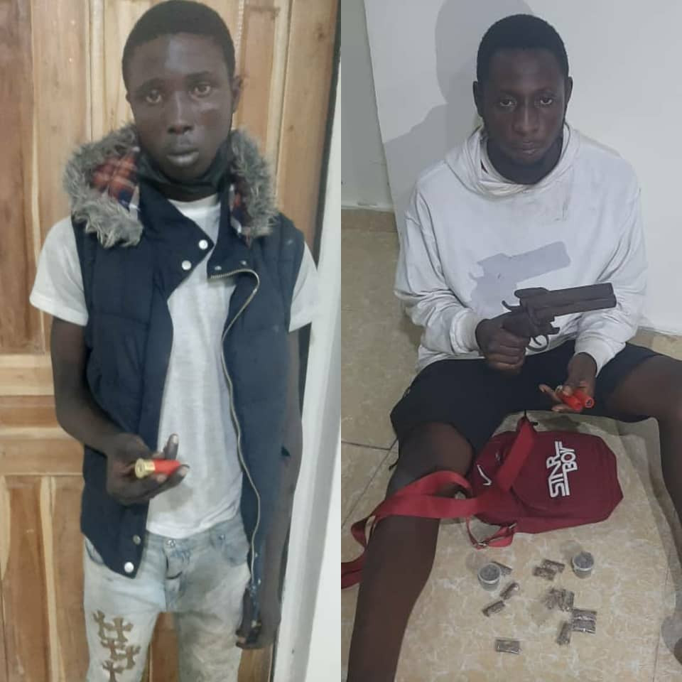 Two arrested for allegedly offering police officer N500,000 bribe in Lagos (photos)