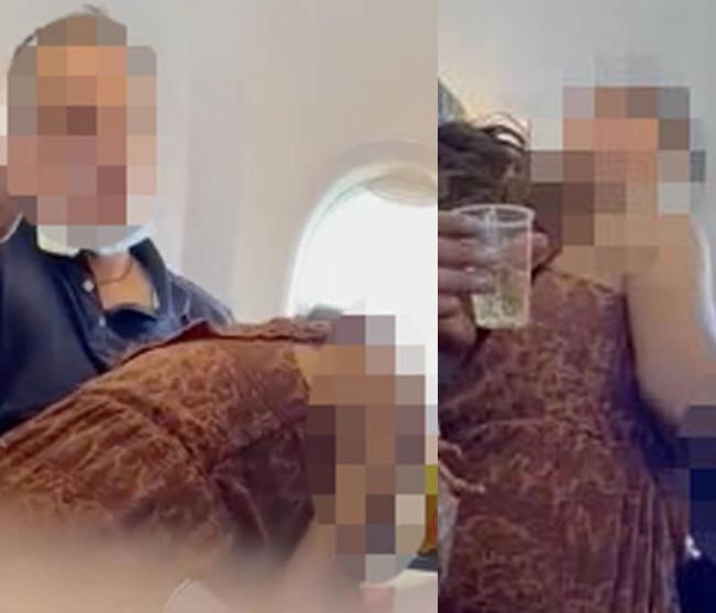 Passenger filmed ?performing sex act? on man mid-flight