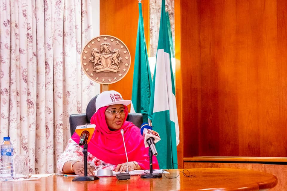 Aisha Buhari charges Nigerian girls to embrace football as she receives No. 10 jersey from FIFA President