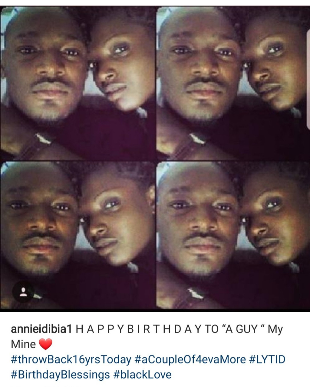 """My mine. Love you till I die,"" Annie Idibia celebrates Tuface Idibia on his birthday"