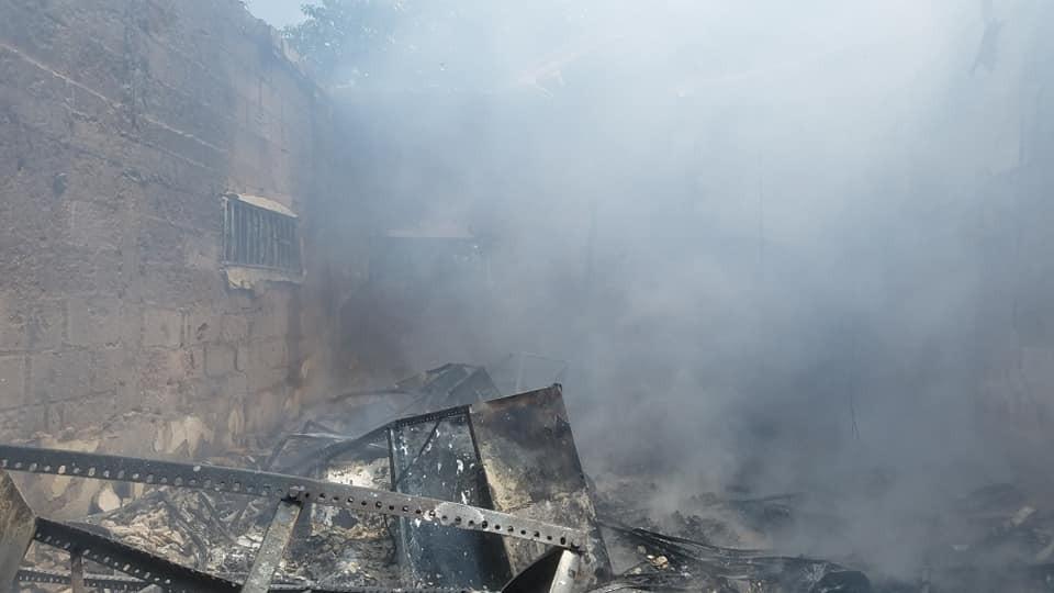 Hoodlums raze INEC office in Enugu (photos)