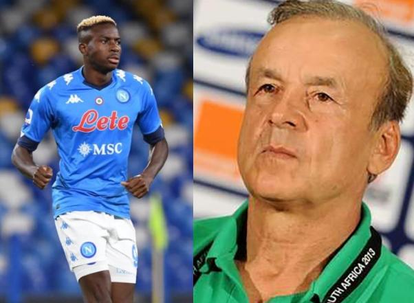 Victor Osimhen is not a World-class striker yet - Super Eagles coach, Rohr