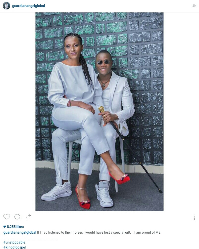 """""""If I had listened to their noises I would have lost a special gift"""" - Kenyan Gospel singer, 31, writes as he shares photo with his 51-year-old fianc?"""