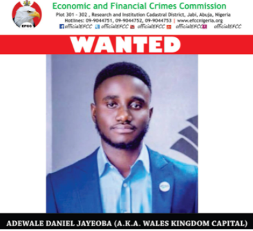 EFCC declares man wanted for alleged investment scam