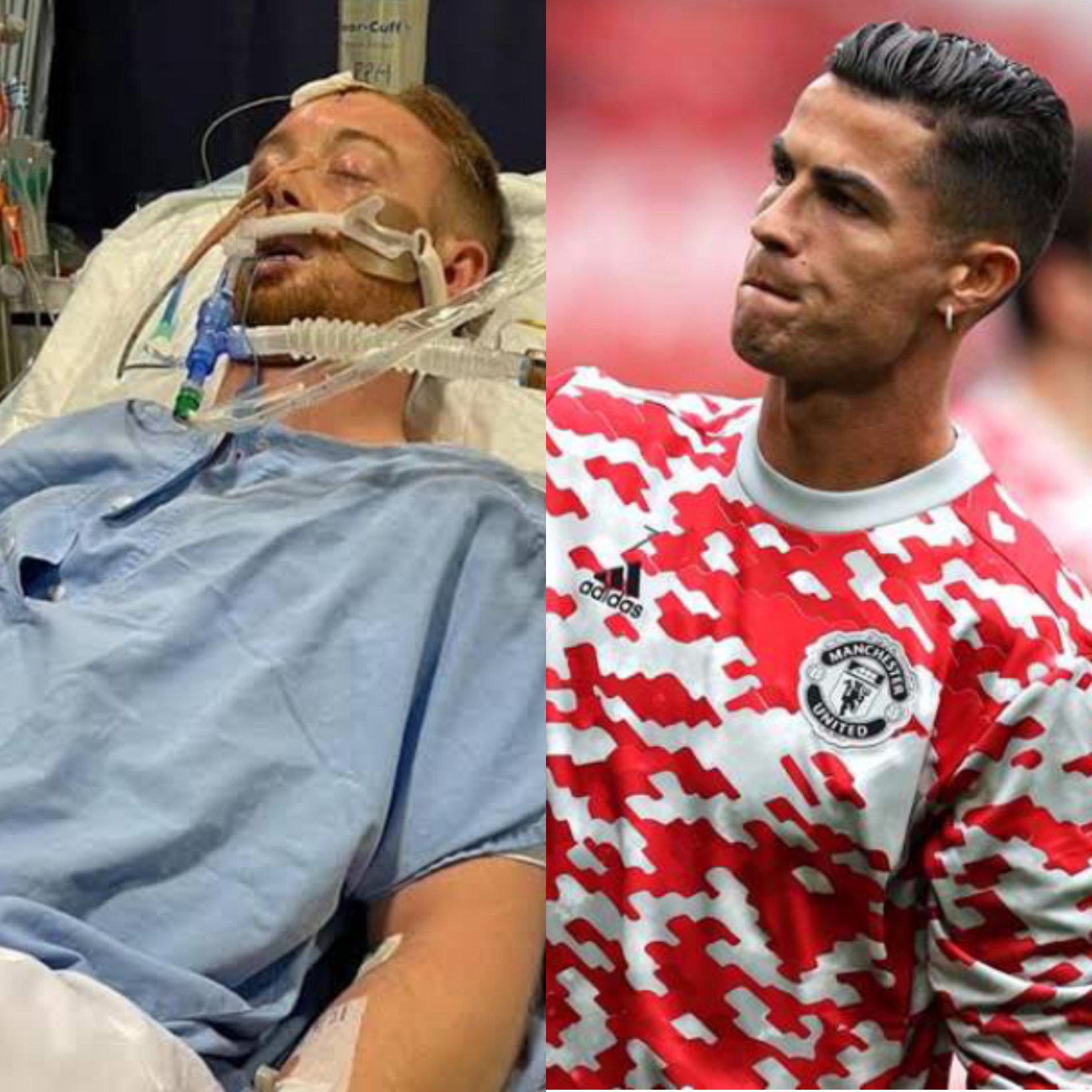 Cristiano Ronaldo offers support to footballer Danny Hodgson in Intensive care fighting for his life