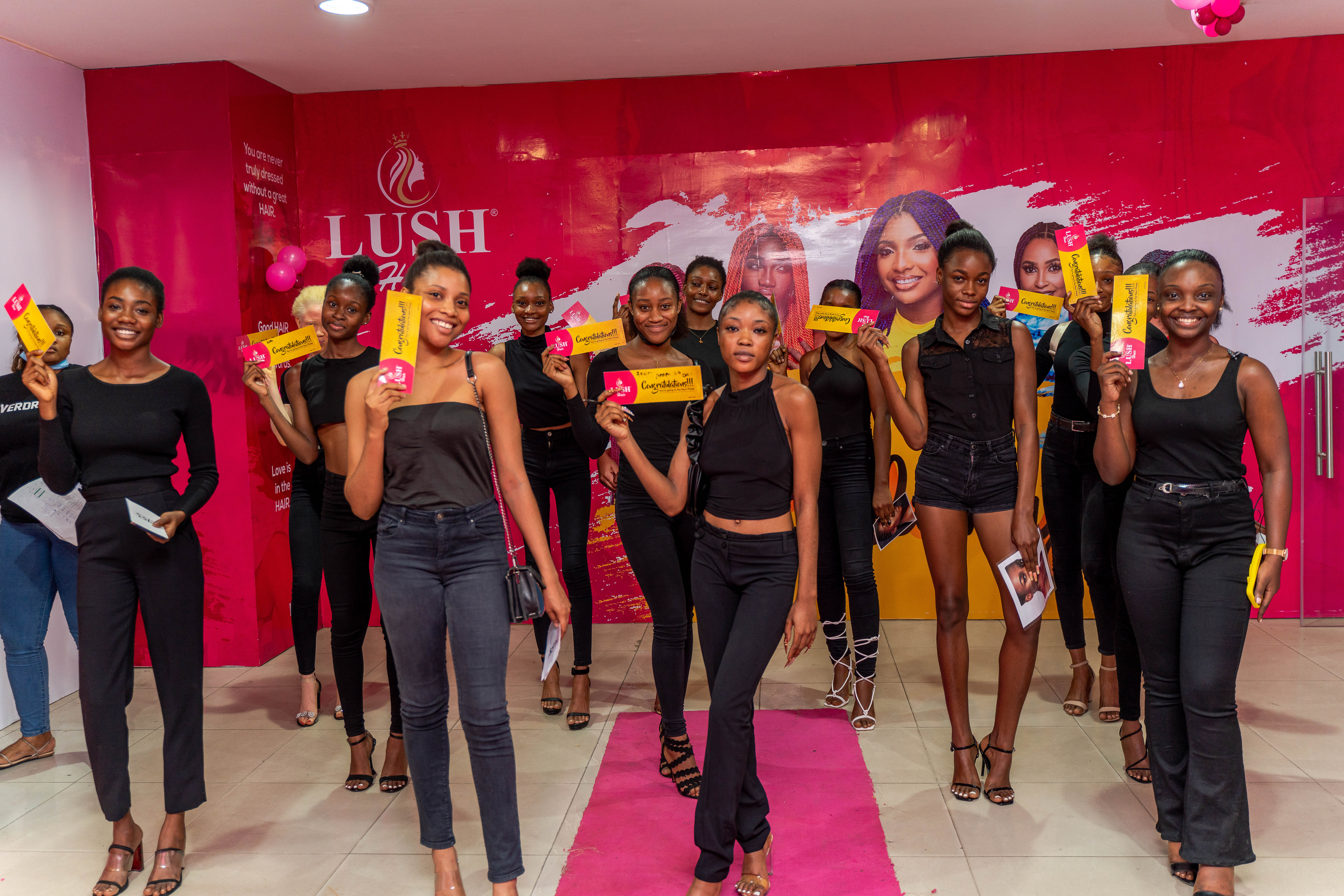 17 Ladies Get Potential Modelling Offer at the Lush Hair Pink Belle Auditions