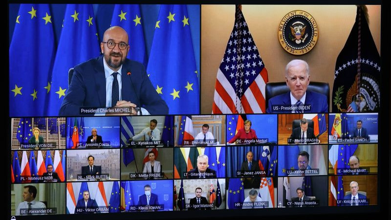 EU leaders accuse Biden of disloyalty to US allies