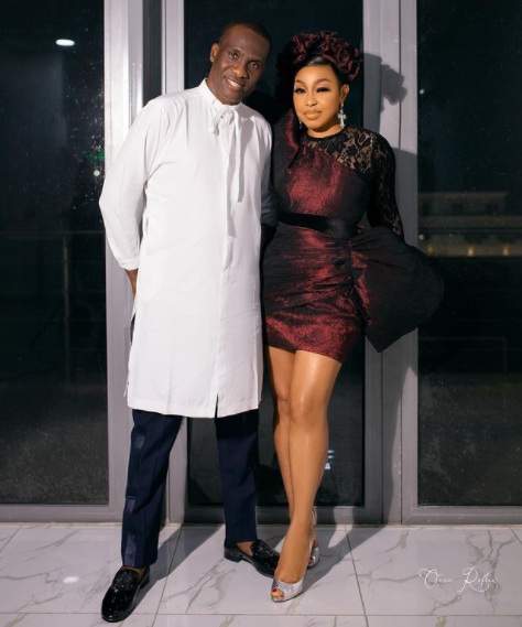 Lovely photo of actress Rita Dominic and her man, Fidelis Anosike, publisher of Daily Times