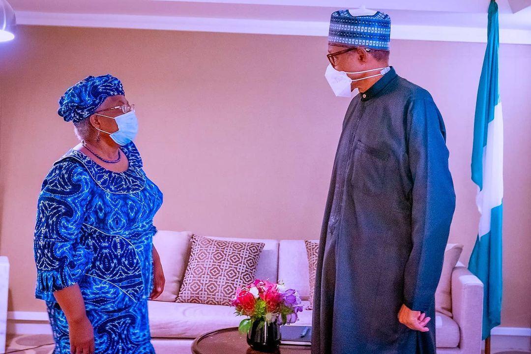 President Buhari meets Okonjo-Iweala in the US (photos)