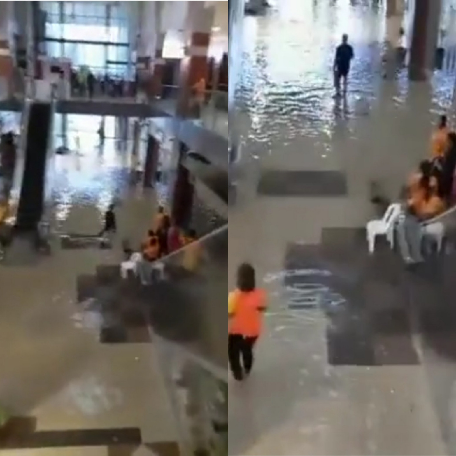 Port Harcourt Mall flooded after heavy rainfall (video)