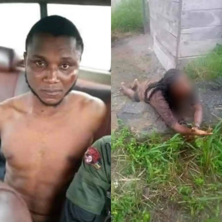 Bayelsa Police confirms arrest of man caught while attempting to behead female undergraduate (photos)
