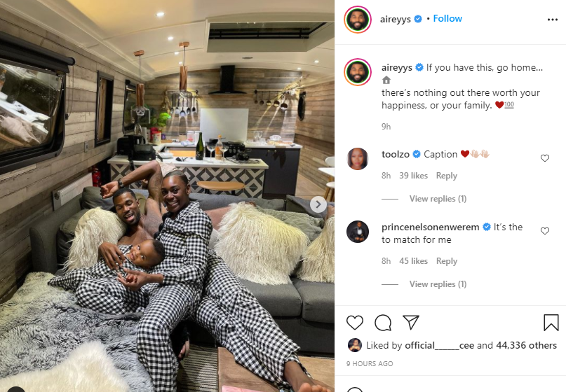 Go home if you have this - BBNaija Mike Edwards tells men as he shares a photo of his family