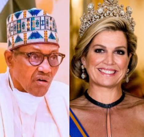 My government is?doing its best on infrastructure development - Buhari tells Queen of The Netherlands, Maxima Zorreguietav