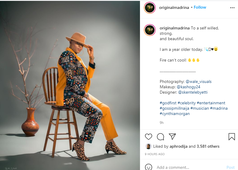 Old enough to know better, but still young enough to get away with it - Cynthia Morgan says as she celebrates birthday with beautiful new photos