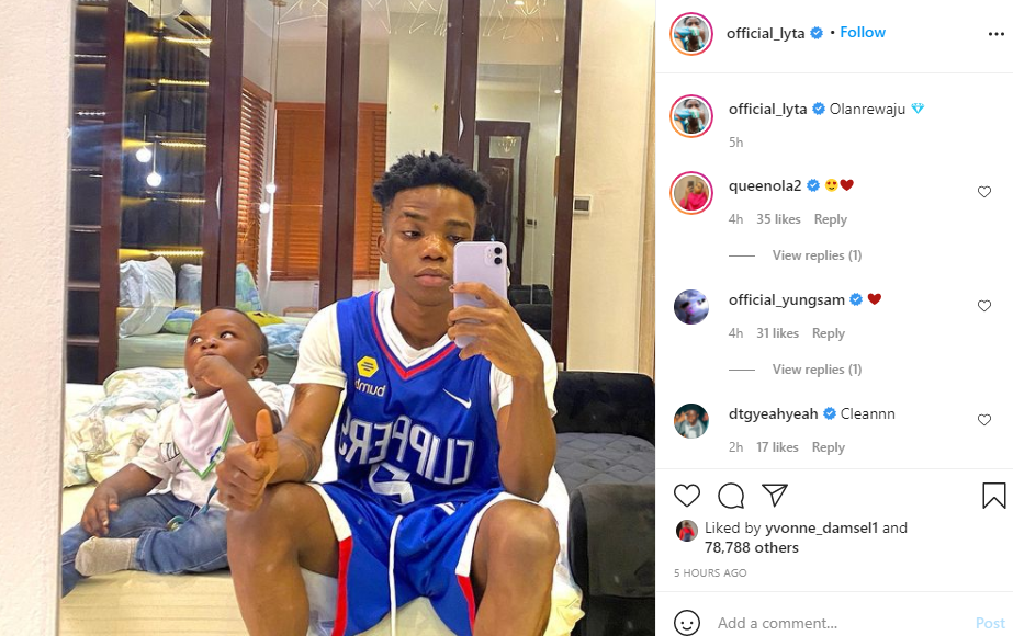 Singer Lyta shares a photo with his son days after reuniting him