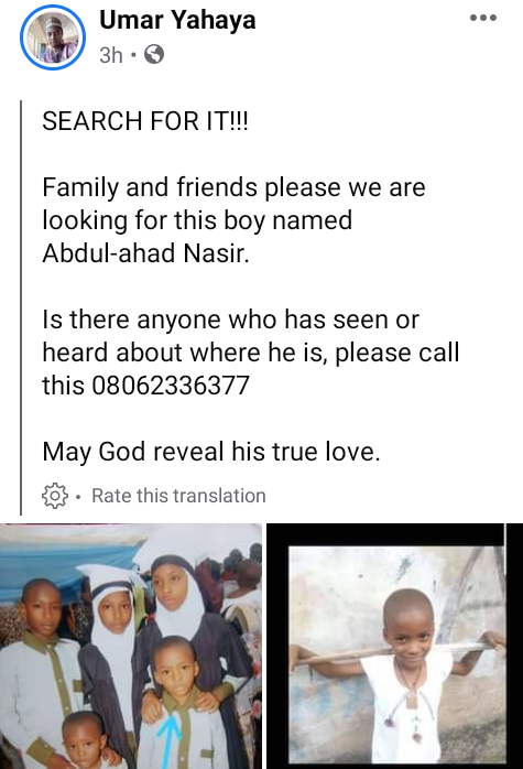 Missing 7-year-old boy found dead with throat slit in Jos (graphic photos)