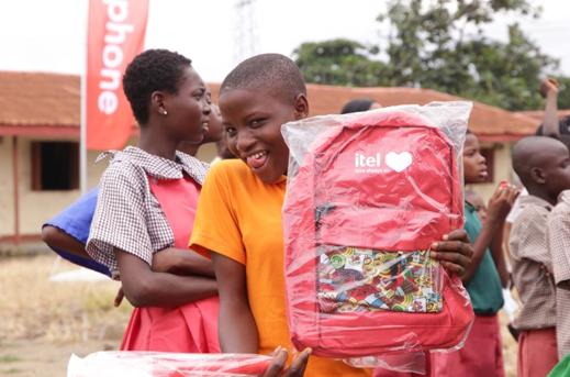 itel Donates Educational Materials To Schools in Lagos With Nengi