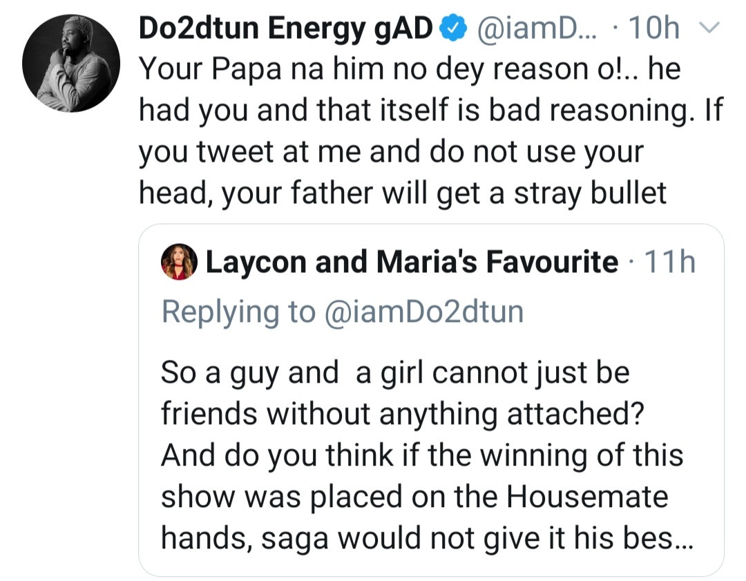 Media personality Dotun and Saga