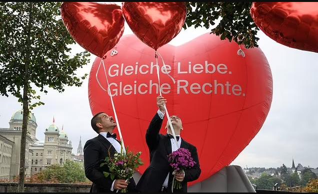 Switzerland votes to make same-sex marriage legal