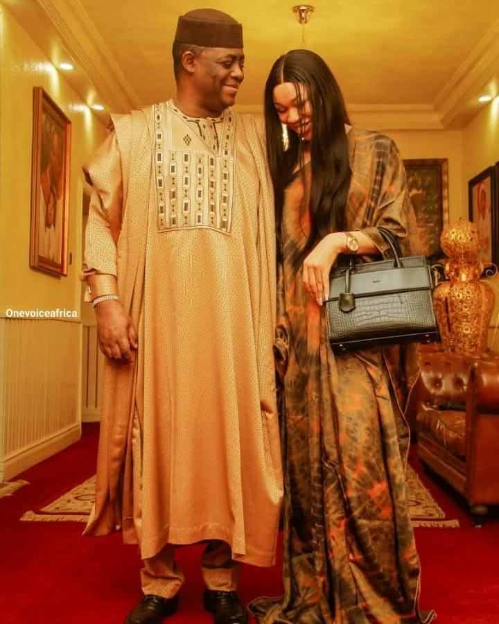Femi Fani-Kayode loved up with his woman, Nerita in new photos