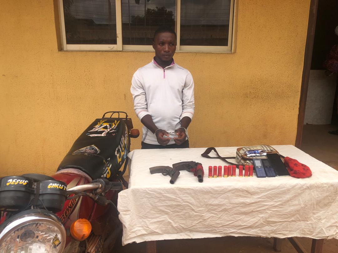 Suspected armed robber arrested on his way back from an operation