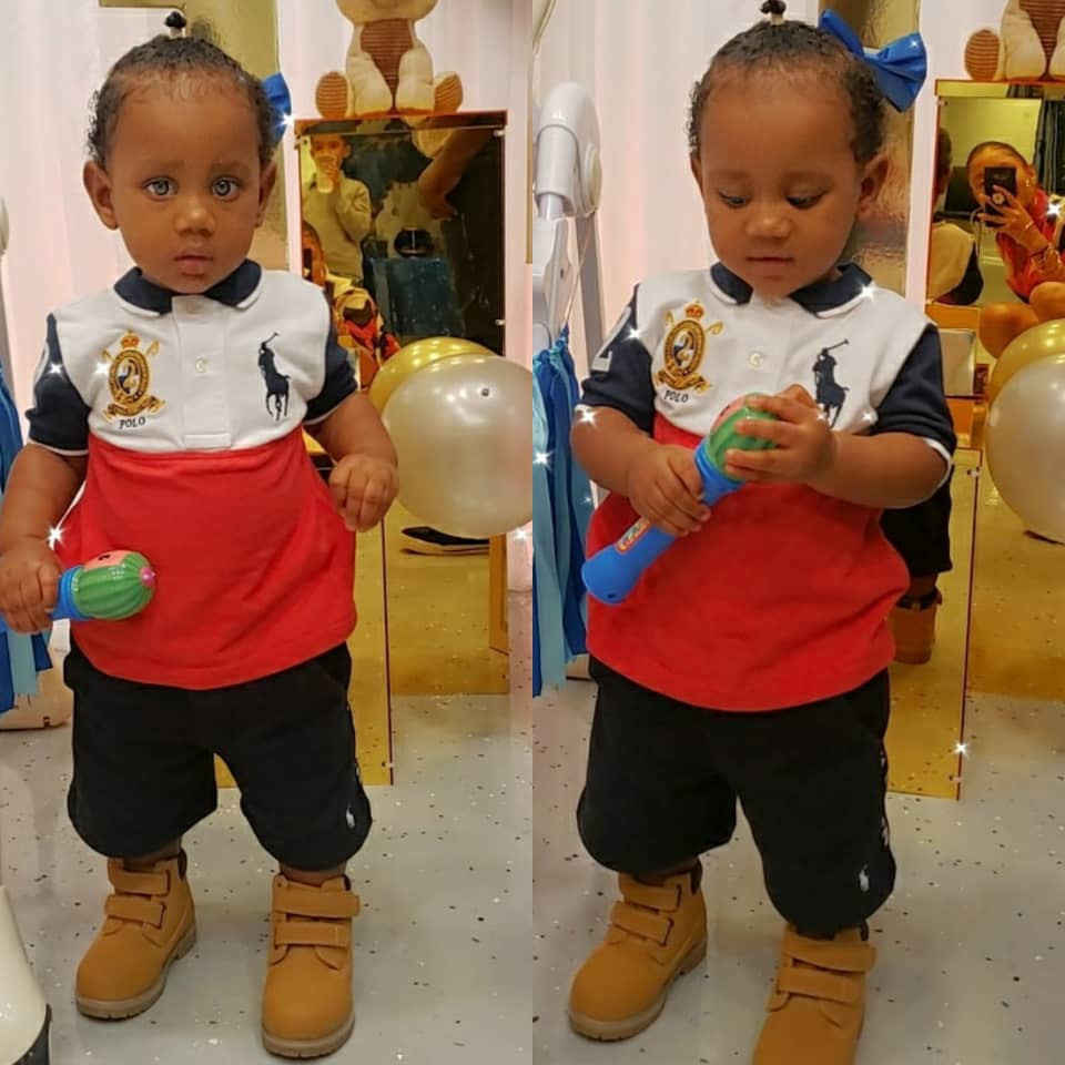 Reality TV star, Gifty Powers, shows off son's face for the first time as he turns one