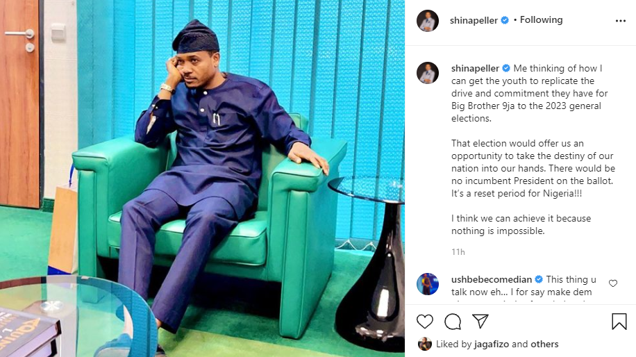 Politician Shina Peller ponders on how to get Nigerian youth to replicate the drive and commitment they have for BBNaija in the 2023 general elections