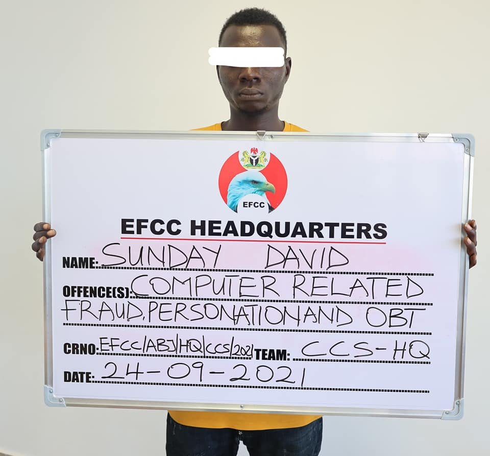 Three suspected internet fraudsters arrested in Abuja (photos)