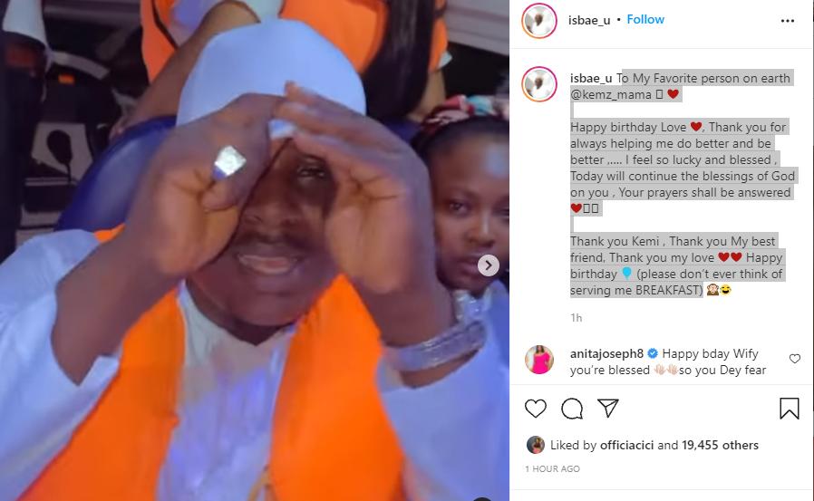 Instagram comedian, Isbae U confirms he is dating colleague Kemz Mama 'Mummy Wa' in birthday post
