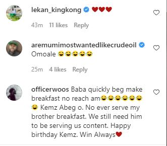 Instagram comedian, Isbae U confirms he is dating colleague Kemz Mama 'Mummy Wa' in birthday post 3