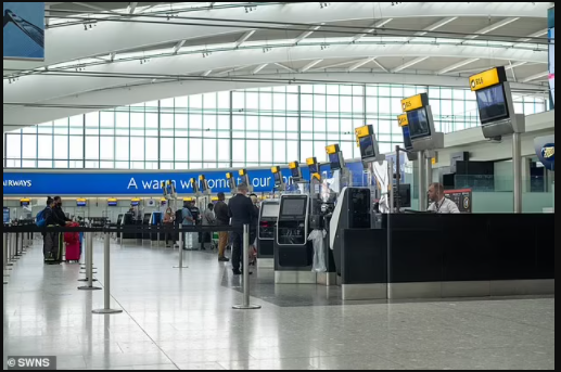 Suspected Islamist extremist, 25, is arrested at Heathrow Airport accused of preparing for acts of terrorism and receiving weapons training