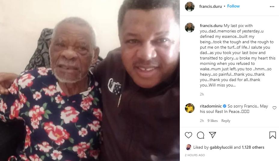 Actor Francis Duru loses father 1