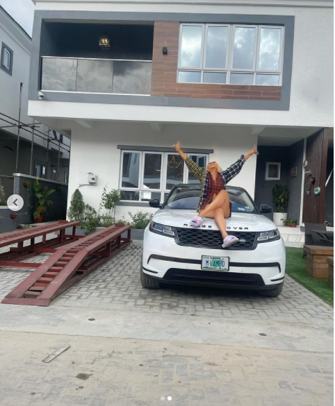 #BBNaija star Mercy Eke show off her second house in Lagos as she clock 28