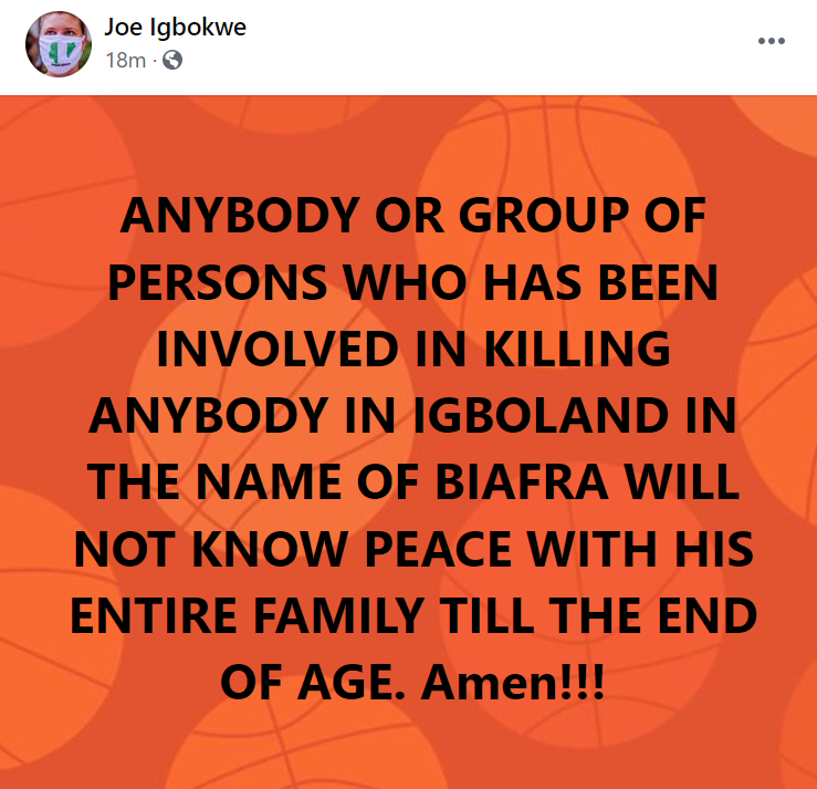 Anybody or group that has been involved in killings in Igboland in the name of Biafra will never know peace - Joe Igbokwe
