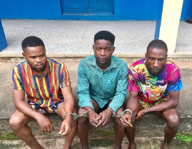Edo police parade three suspected cultists arrested for assaulting and dehumanizing female TikTok user