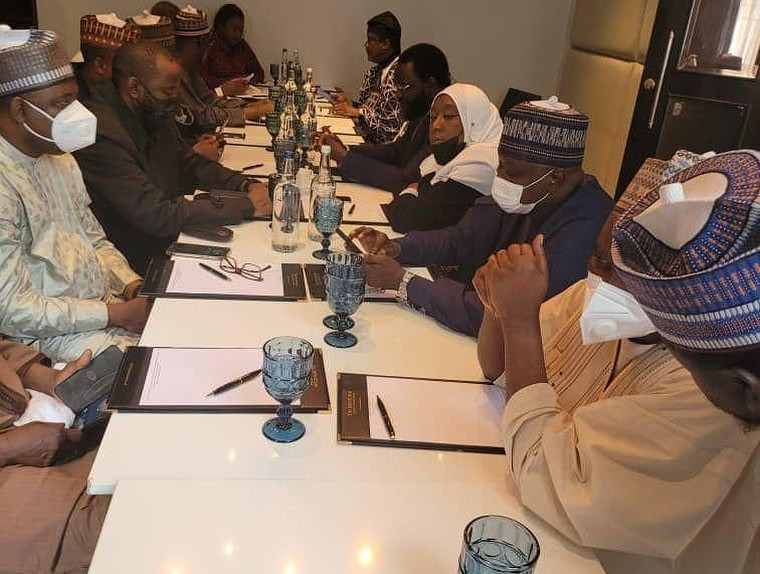 Northern lawmakers visit Bola Tinubu in London (photos)