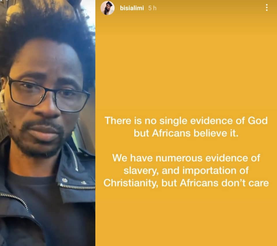 There is no single evidence of God - Bisi Alimi