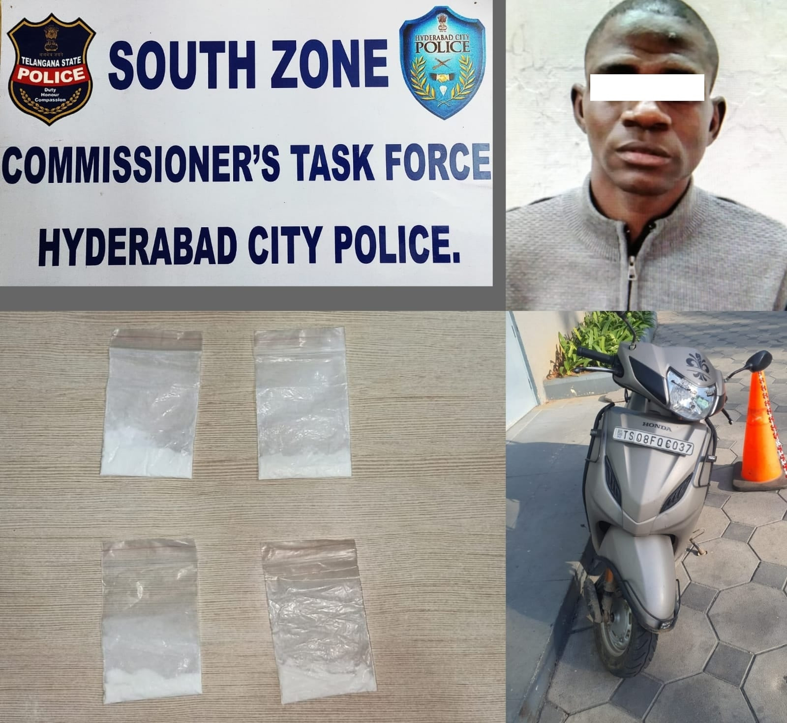 Nigerian student arrested for peddling cocaine a year after he was released from prison in India